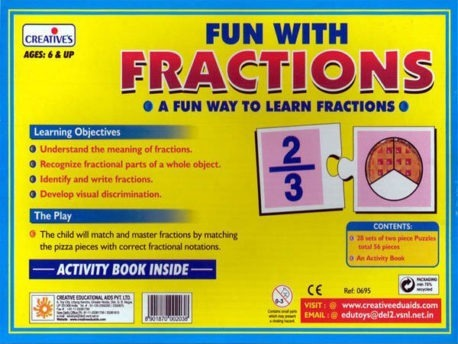 FUN with FRACTIONS - Kids Maths game