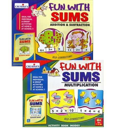 Fun with Sums MULTIPLICATION & ADD-SUBTRACT - Kids Maths 2-game set