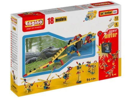 ENGINO 18 Mechanics Kit w Motor | Age 6+